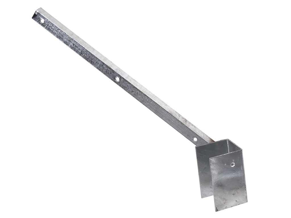 Bavolet Zn na čtyřhranný sloupek 60x60mm, jednostranný, vnější 0,81Kg