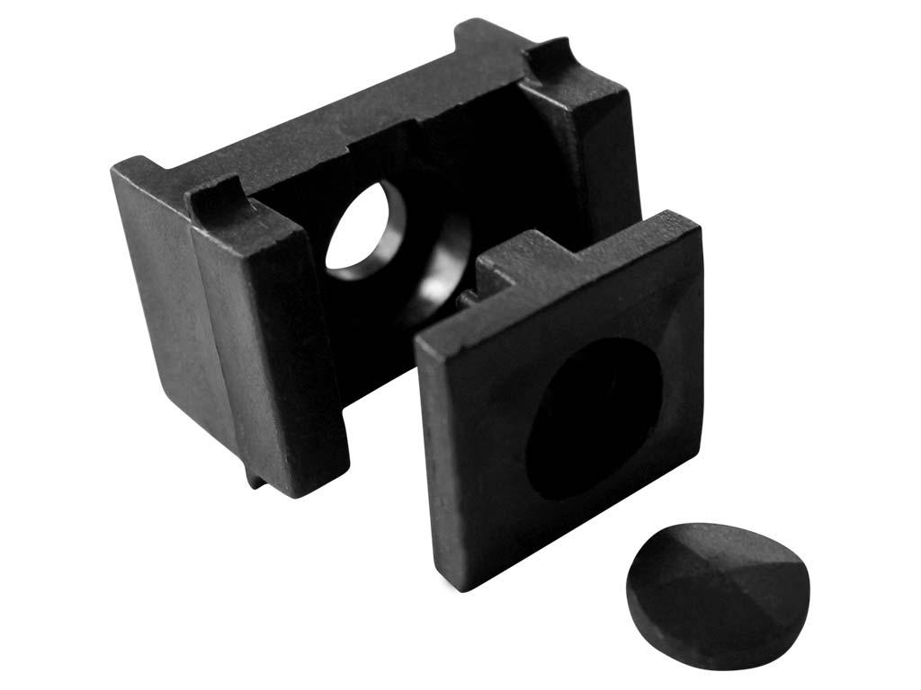 Příchytka panelu PILOFOR - PRO na sloupek 60x40mm, PVC, černá 0,03Kg