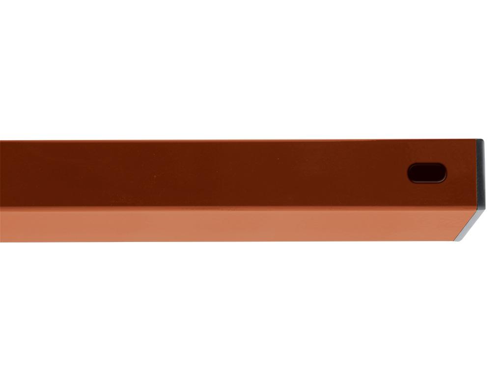 PILWOOD - příčník Zn+PVC 2000/60x40/1,5 RAL 8004 - červenohnědá 4,2Kg