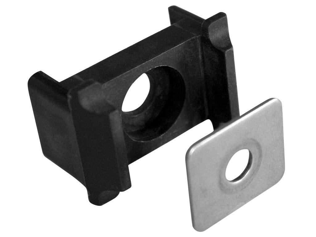 Příchytka panelu PILOFOR osazení, kovový přítlak, 60x40mm, PVC, černá 0,03Kg