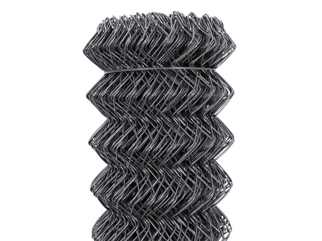 Čtyřhranné pletivo IDEAL PVC KOMPAKT 125cm/55x55/25m -1,65/2,5mm, antracit 25Kg