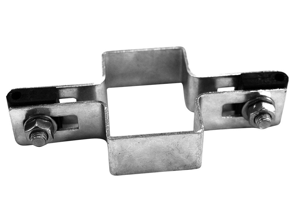 Příchytka na sloupek 60x40 mm průběžná, Zn 0,19Kg