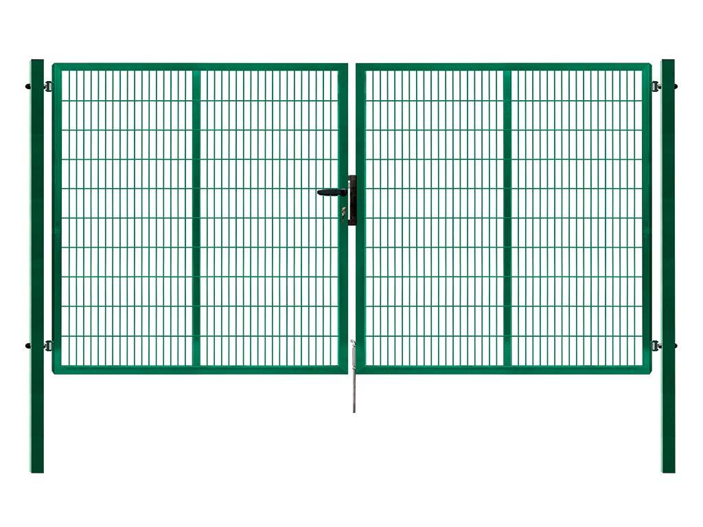 Brána PILOFOR SUPER dvoukřídlá, 4110x1780 mm, Zn+RAL 6005 79,5Kg