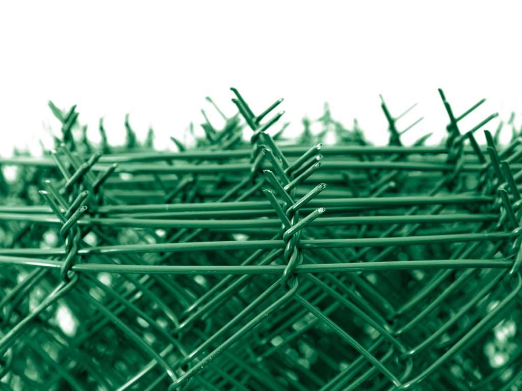 Čtyřhranné pletivo IDEAL PVC ZAPLETENÉ 100/55x55/25m -1,65/2,5mm, zelené 21Kg