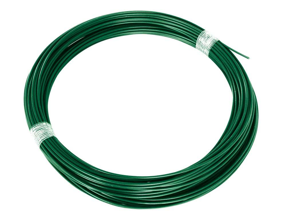 Drát napínací Zn + PVC 26m, 2,25/3,40, zelený, (zelený štítek) 1Kg