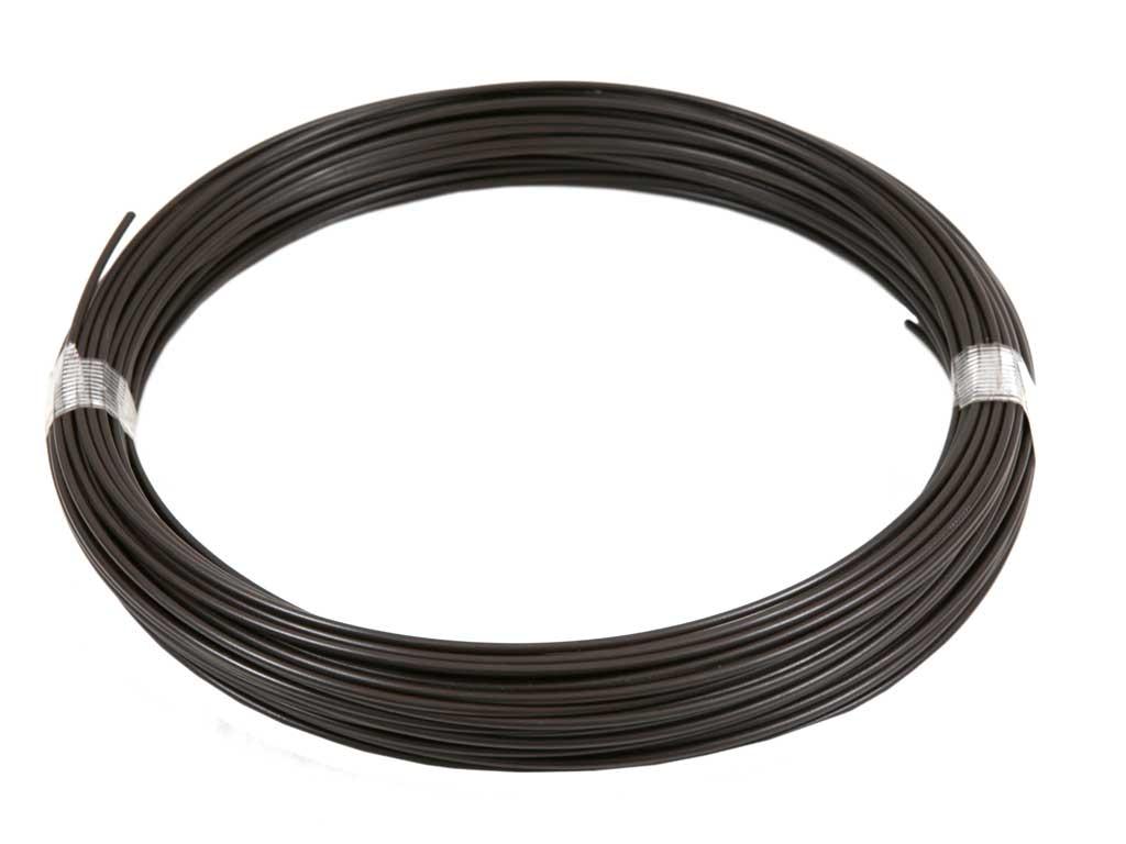Drát napínací Zn + PVC 78m, 2,25/3,40, hnědý (zelený štítek) 3Kg