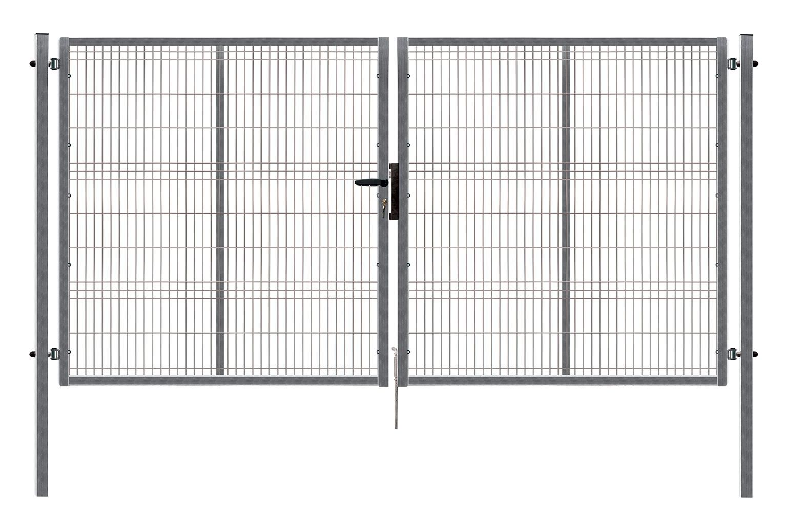 Brána PILOFOR dvoukřídlá, 4118x1245 mm, Zn 49,5Kg
