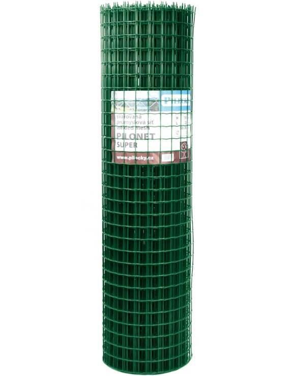 Svařovaná síť Zn + PVC PILONET SUPER 2000/50x50/25m - 3,0mm, zelená 72Kg