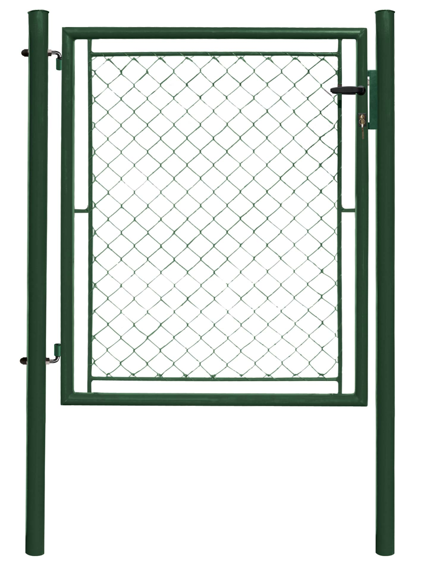 Branka IDEAL jednokřídlá 1085x1950,Zn+PVC, zelená 24Kg