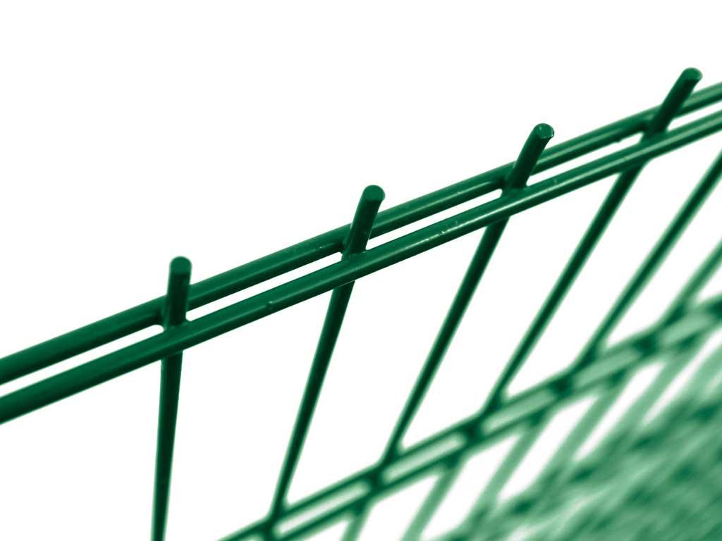 Svařovaný panel PILOFOR SUPER Zn + PVC 2500x1230mm, 50x200mm/2x6mm vod. + 5mm svislé, zelený 15,5Kg