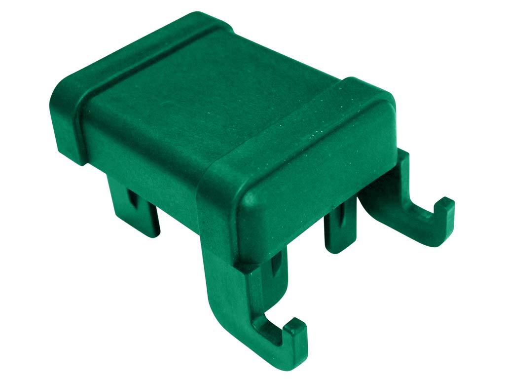 Čepička sloupku 60x40 mm s háčky na čele, zelená 0,02Kg