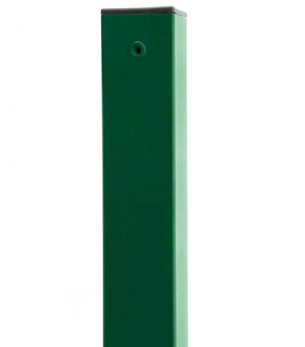 Sloupek čtyřhranný PILOFOR Zn + PVC 2200/60x60/1,5mm, zelený 5,8Kg