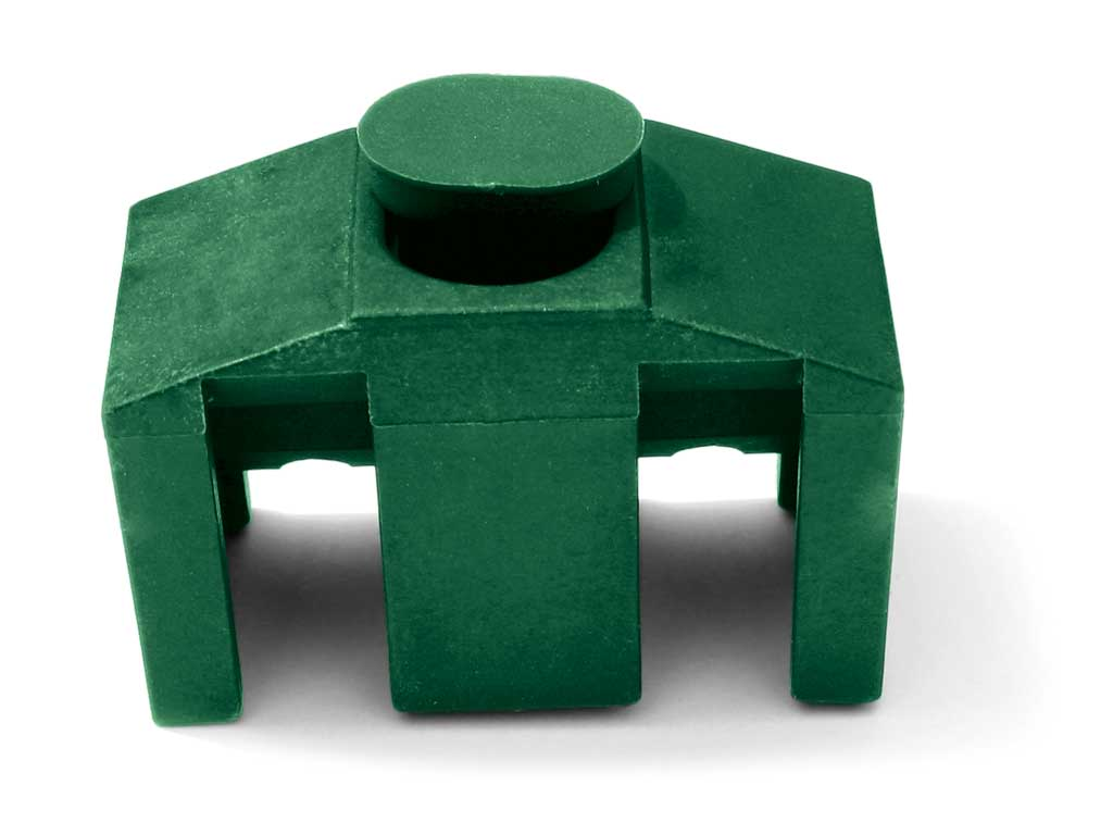 Příchytka PVC na čtyřhranný sloupek pro panely PILOFOR CLASSIC, zelená 0,03Kg