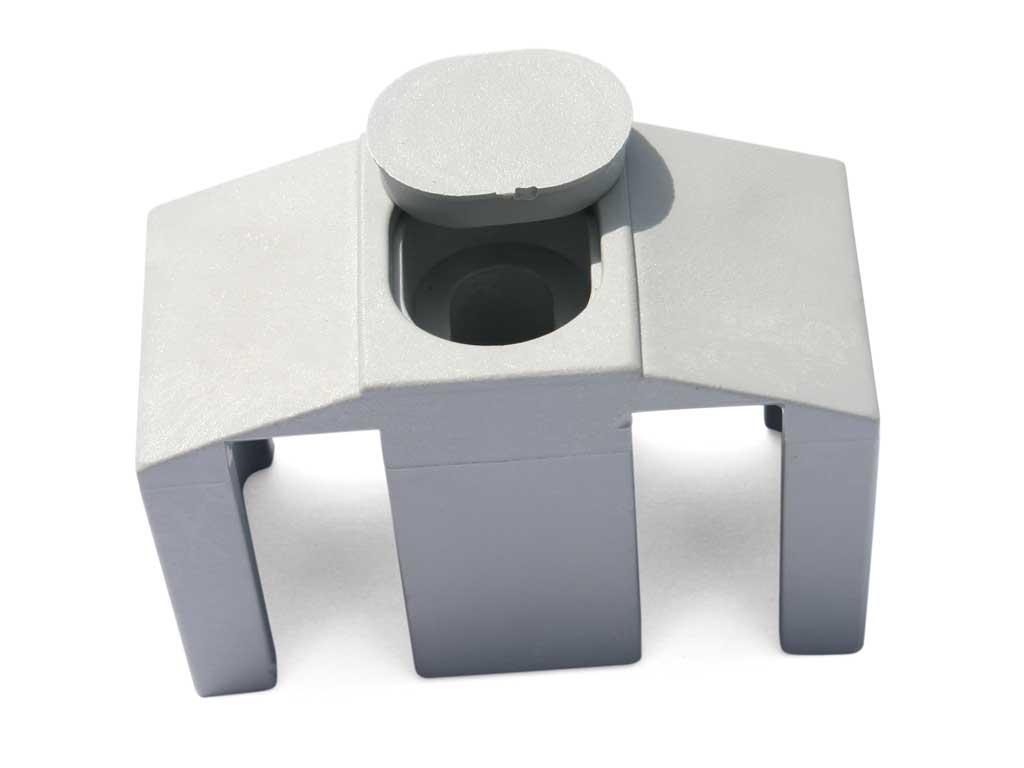 Příchytka PVC na čtyřhranný sloupek pro panely PILOFOR CLASSIC, šedá 0,03Kg