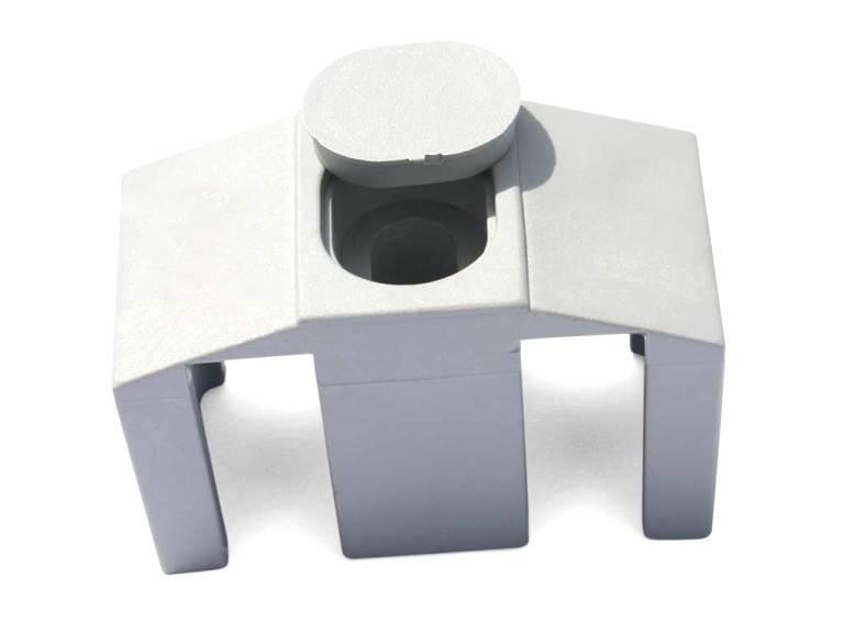 Příchytka PVC na čtyřhranný sloupek pro panely PILOFOR CLASSIC, bílá 0,03Kg