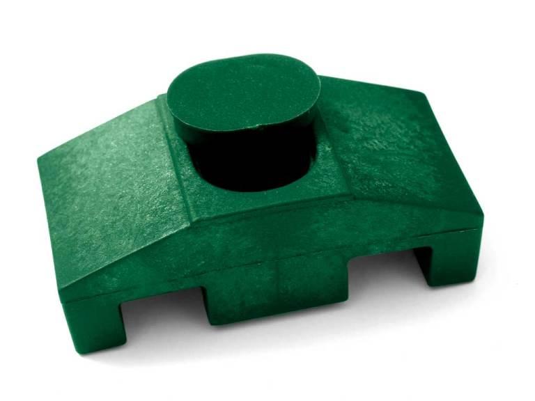 Příchytka PVC na čtyřhranný sloupek pro panely PILOFOR SUPER, zelená 0,02Kg