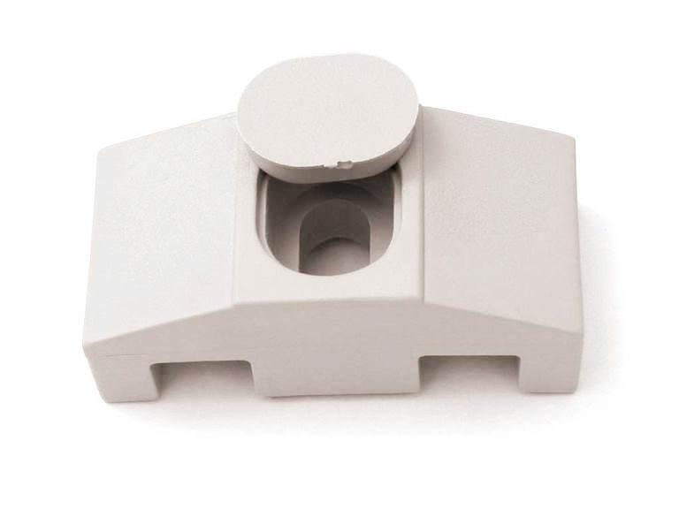 Příchytka PVC na čtyřhranný sloupek pro panely PILOFOR SUPER, bílá 0,02Kg