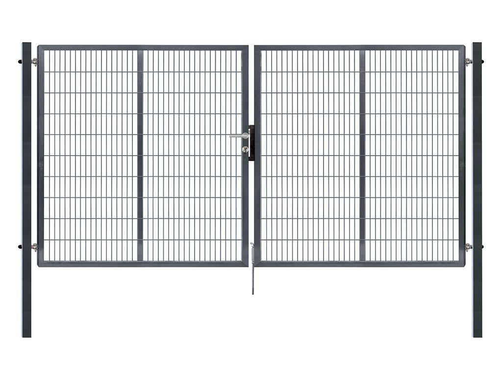 Brána PILOFOR SUPER dvoukřídlá, 4110x1980 mm, Zn+RAL 7016 87,9Kg