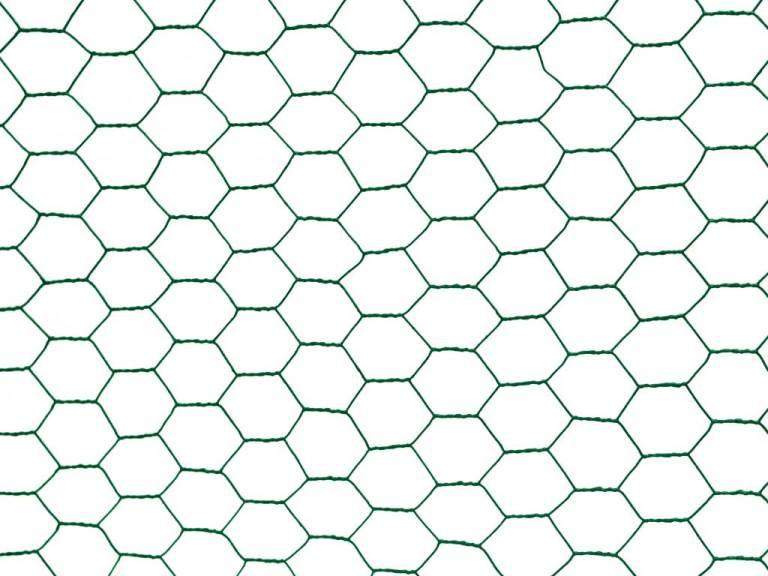 Chovatelské šestihranné pletivo Zn+PVC 13/1000/25m, zelené 8,37Kg