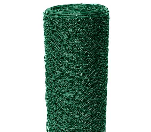 Chovatelské šestihranné pletivo Zn+PVC HOBBY 25/500/10m, zelené 1,34Kg