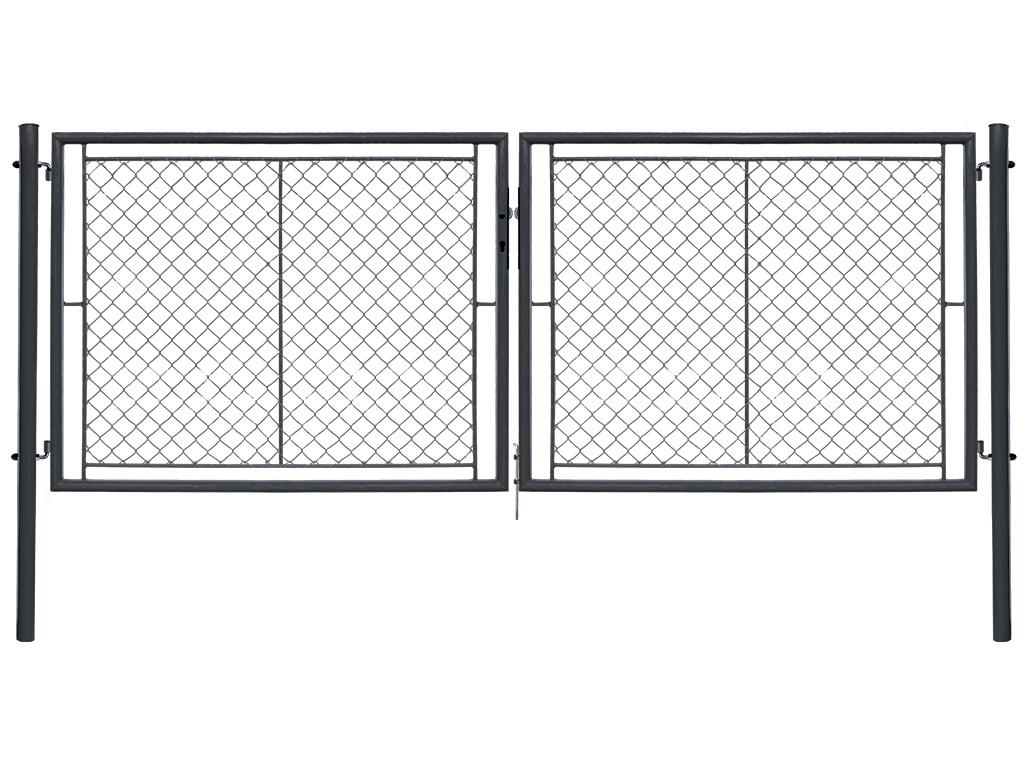 Brána IDEAL II. dvoukřídlá, 3605x1750, Zn+PVC, antracit 47,8Kg