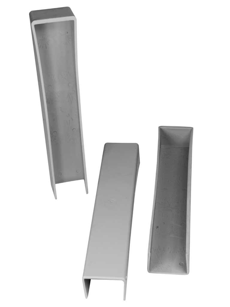 Stabilizacní držák koncový PVC, 300mm, šedý 0,12Kg