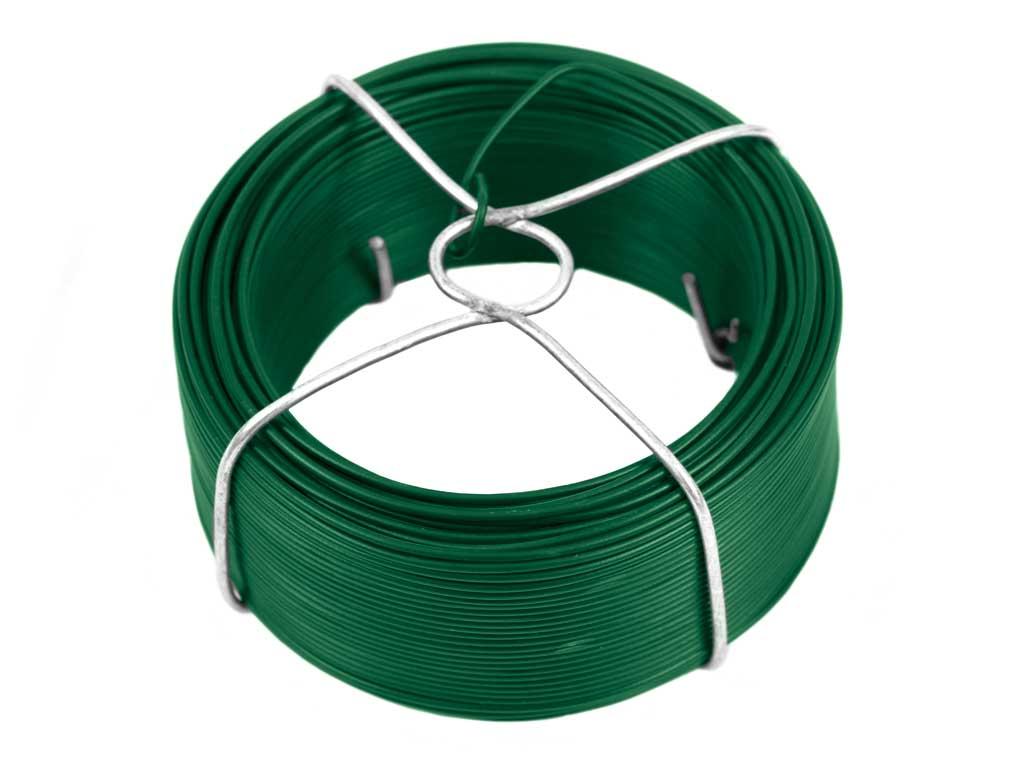 Vázací drát Zn + PVC 1,4/60m v drátěném obalu 0,47Kg