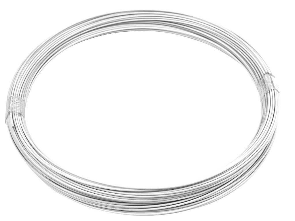 Vázací drát Zn + PVC 1,4/2,0 - 50m, bílý 0,73Kg