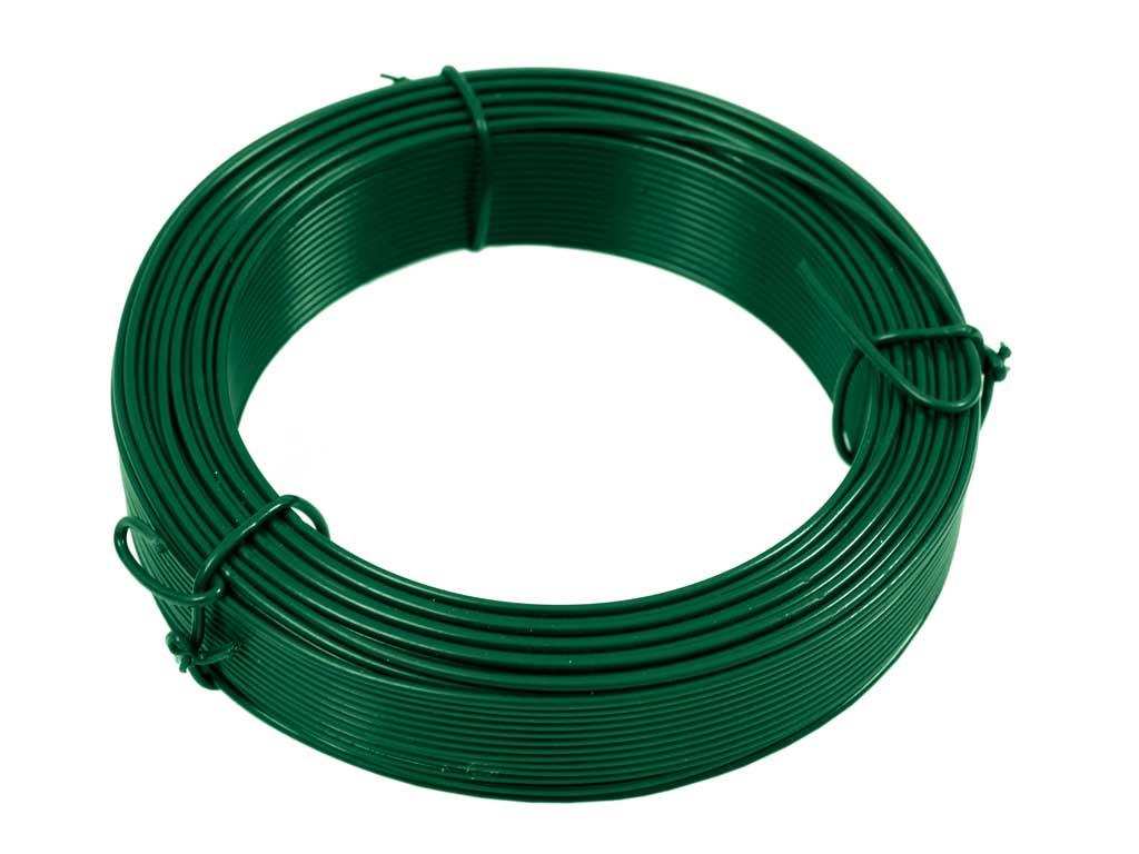 Vázací drát Zn + PVC 2,6/25m v kroužku, zelený 0,52Kg