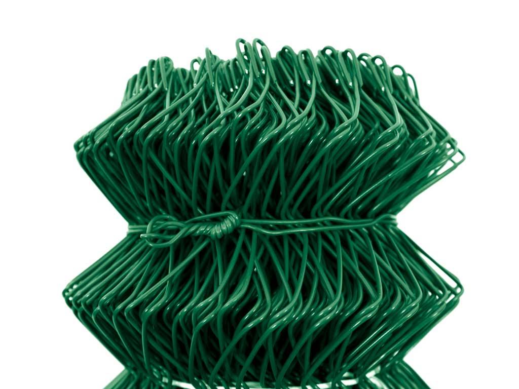 Čtyřhranné pletivo IDEAL PVC KOMPAKT 125cm/55x55/25m - 1,65/2,5mm, zelené 25Kg