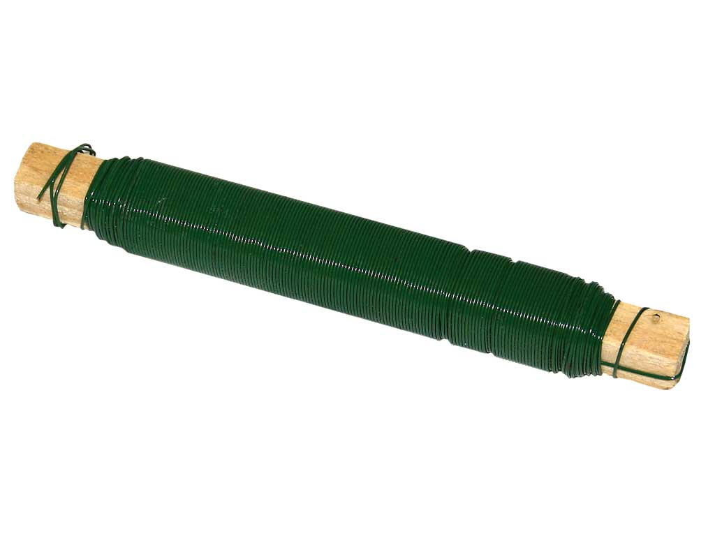 Vázací drát Zn 0,65/0,1kg, lakovaný, zelený 0,1Kg