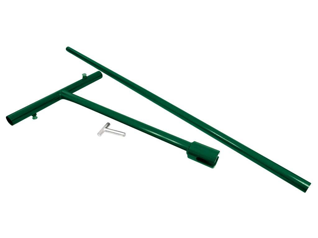 """Rucní """"T"""" kríž Ø 56mm pro zemní vruty, zelený (třídílná sada) 6Kg"""