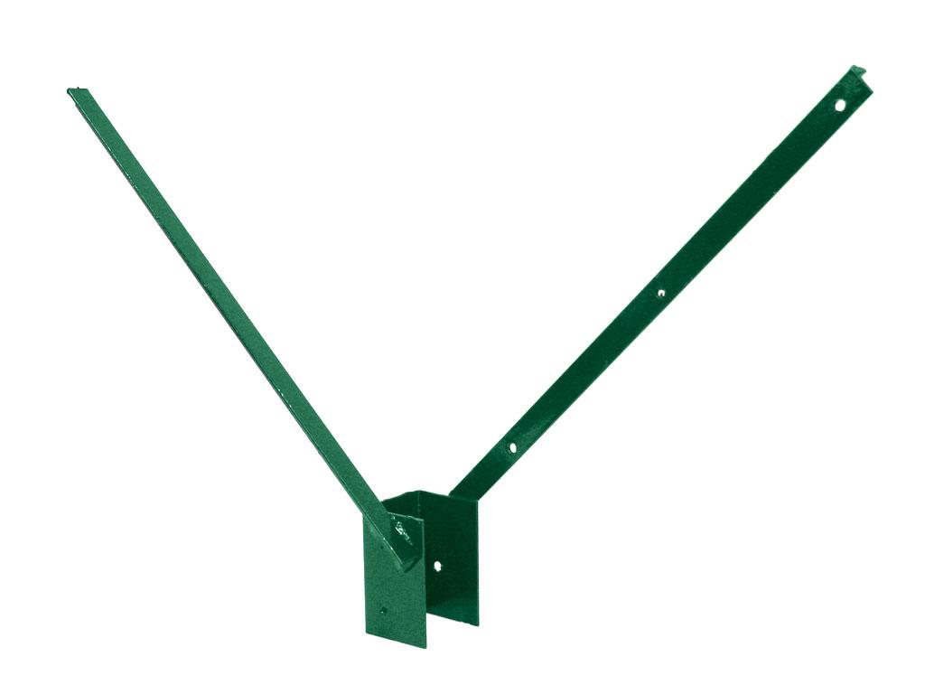 """Bavolet Zn + PVC na čtyřhranný sloupek 60x60, tvar """"V"""", zelený 1,38Kg"""