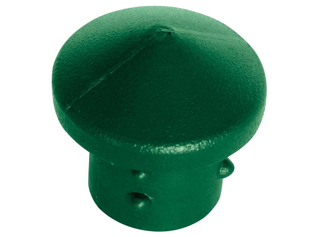 """Čepička sloupku HDPE PVC 5/4"""", zelená 0,01Kg"""