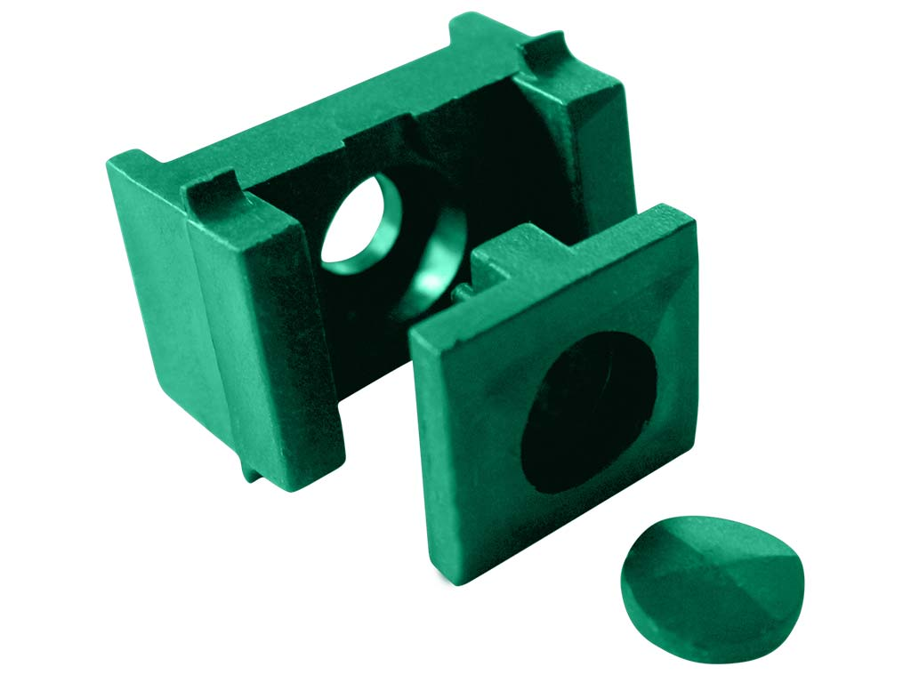 Příchytka panelu PILOFOR - PRO na sloupek 60x40mm, PVC, zelená 0,03Kg