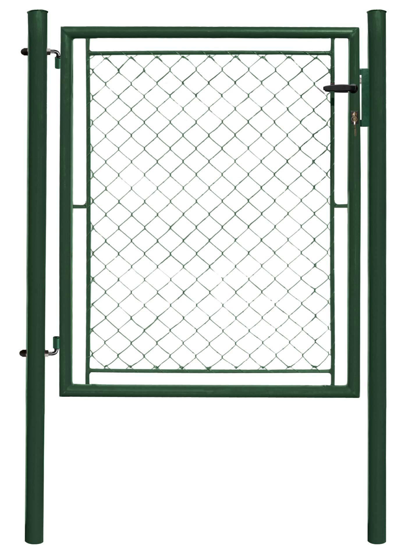 Branka IDEAL jednokřídlá 1085x1750,Zn+PVC, zelená 22Kg