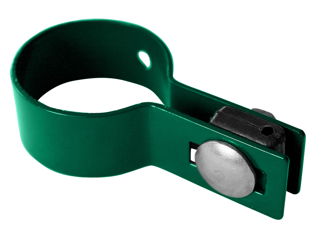 Objímka na panely PILOFOR pro sloupek Ø 48mm, koncová, Zn + PVC, zelená 0,08Kg