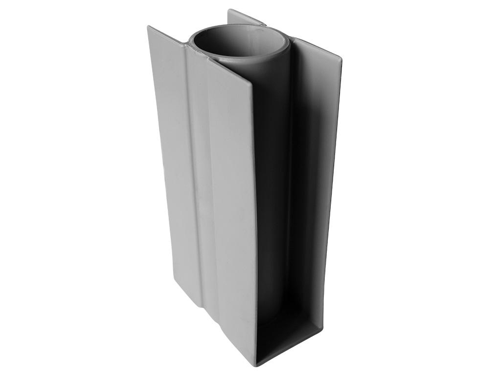 Stabilizacní držák průběžný PVC, 300/Ø 48mm, šedý 0,28Kg