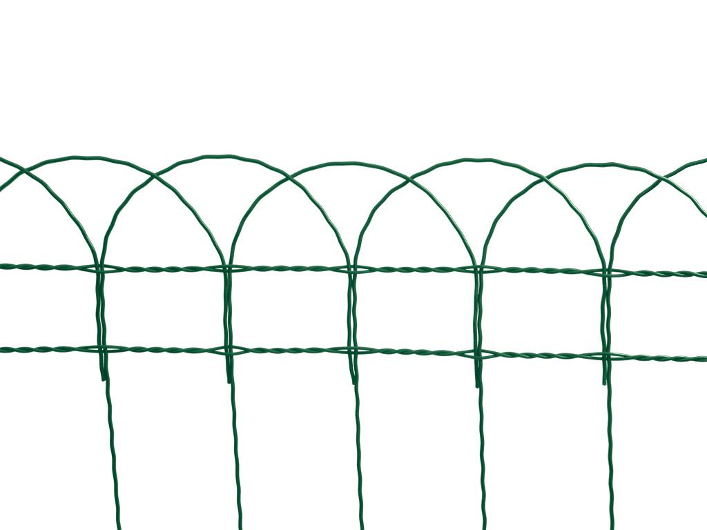 Dekorační pletivo Zn + PVC DEKORAN 40/90x150/25m, zelené 8,4Kg