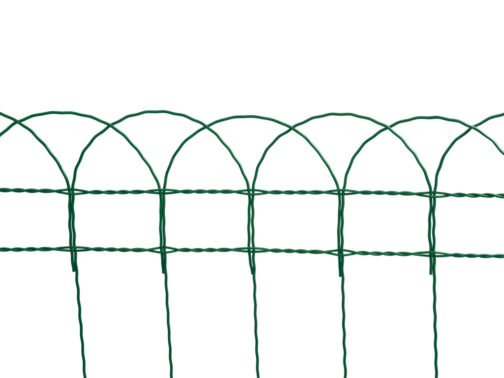 Dekorační pletivo Zn + PVC DEKORAN 90/90x150/25m, zelené 16,4Kg