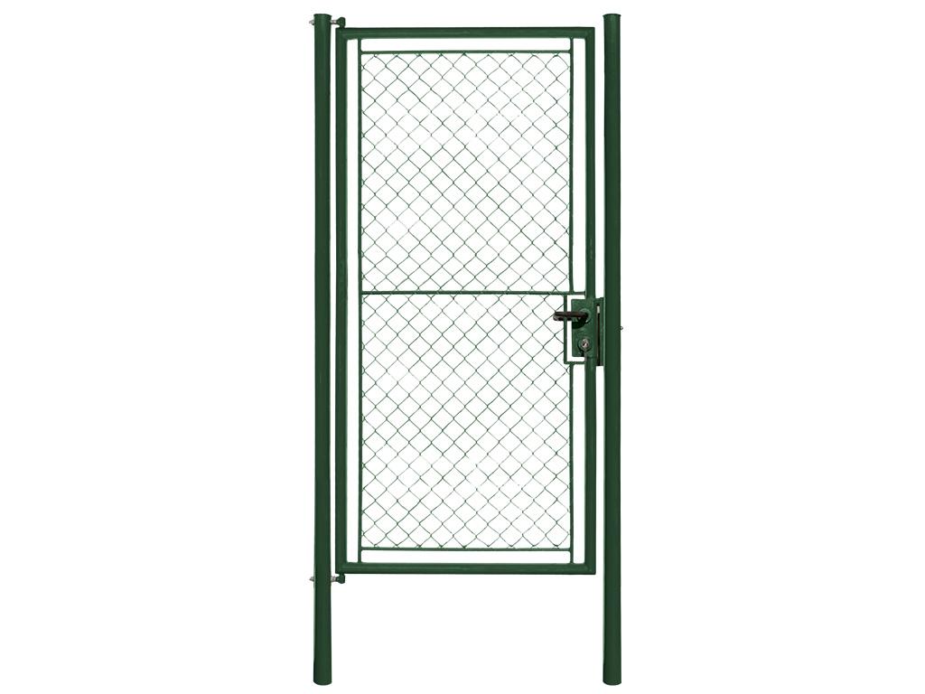 Branka IDEAL - TENIS jednokřídlá se zámkem FAB, 1250x2200mm, Zn+PVC, zelená 33,8Kg