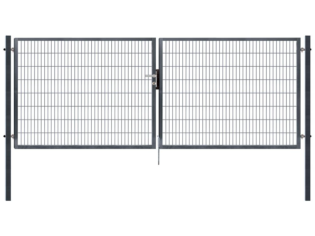 Brána PILOFOR SUPER dvoukřídlá, 4090x1380 mm, Zn+RAL 7016 54,7Kg