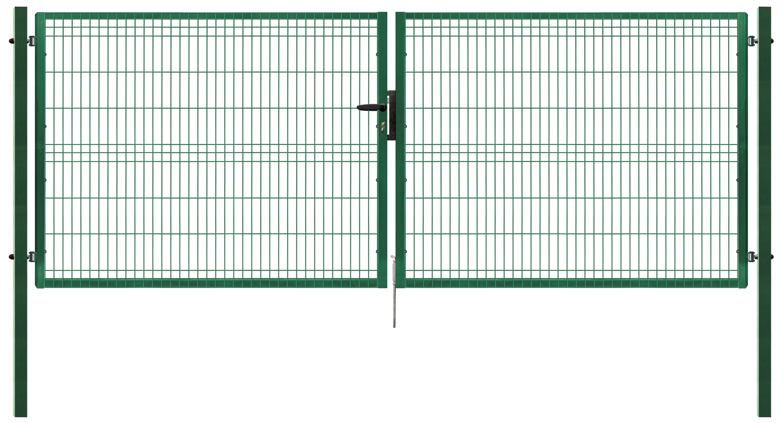 Brána PILOFOR dvoukřídlá, 4118x1245 mm, Zn+RAL 6005 49,5Kg