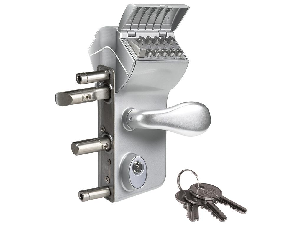 Zámek průmyslový kódovaný LMKQ40-V2 - stříbrný LOCINOX 2,81Kg