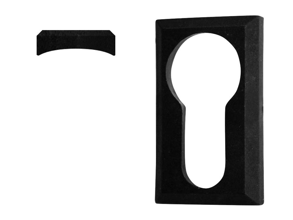 Krytka vložky zámku plastová, černá na kulatý profil 0,1Kg