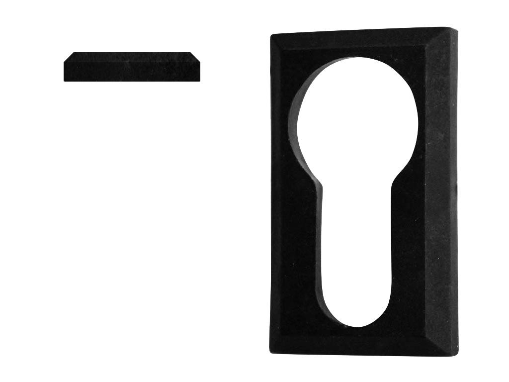 Krytka vložky zámku plastová, černá 0,1Kg
