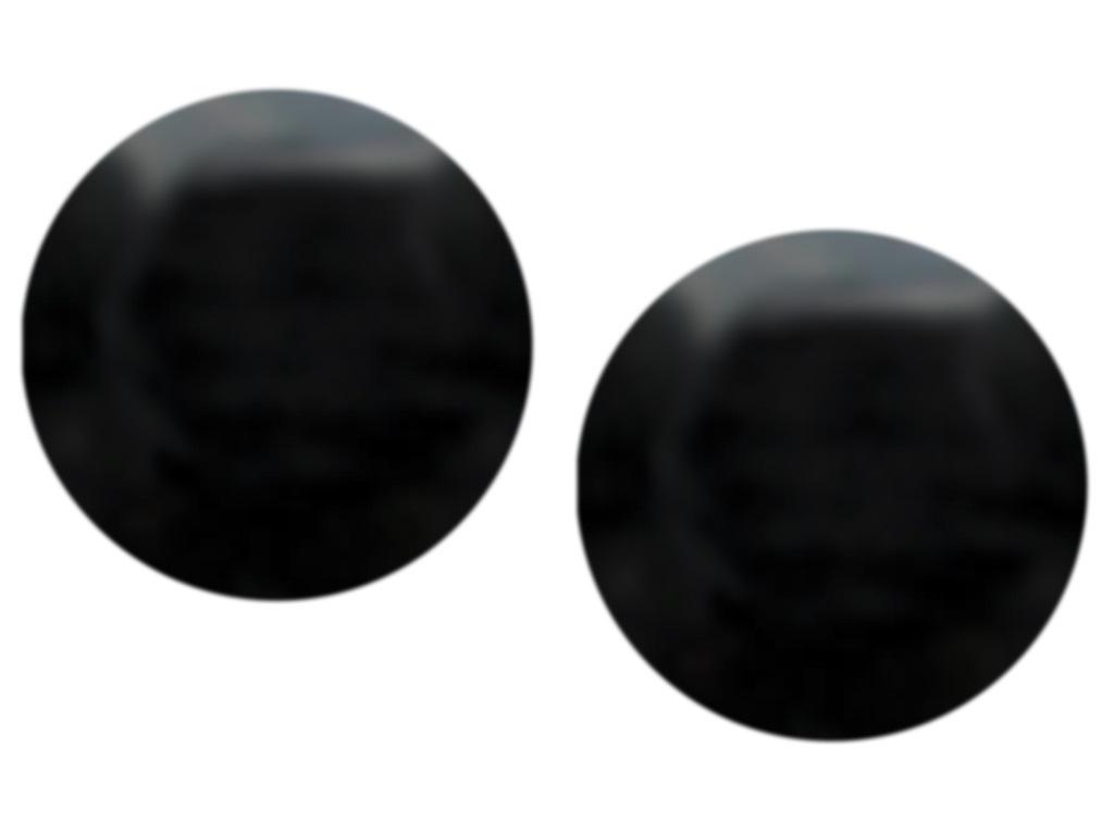 Ucpávka otvoru kliky - černá (2ks) 0,1Kg
