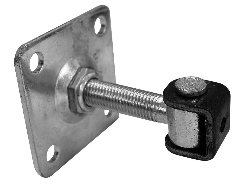 Pant Zn regulovatelný M20 s plotnou 100x70 mm pro zděné a kovové sloupky, dvě díry 0,9Kg