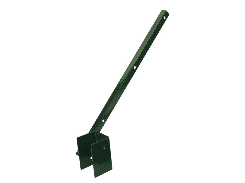 Bavolet Zn + PVC na čtyřhranný sloupek 60x60mm, jednostranný, vnitřní, zelený 0,81Kg