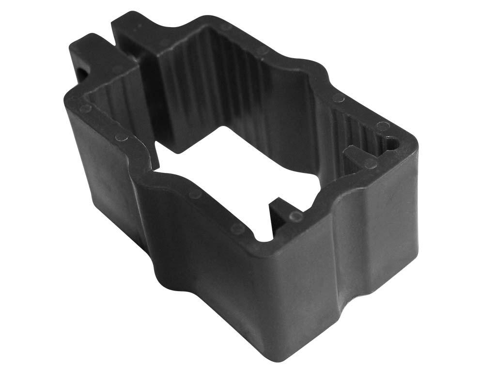 Objímka PVC na sloupky 60x40 mm pro panely PILOFOR, černá 0,06Kg